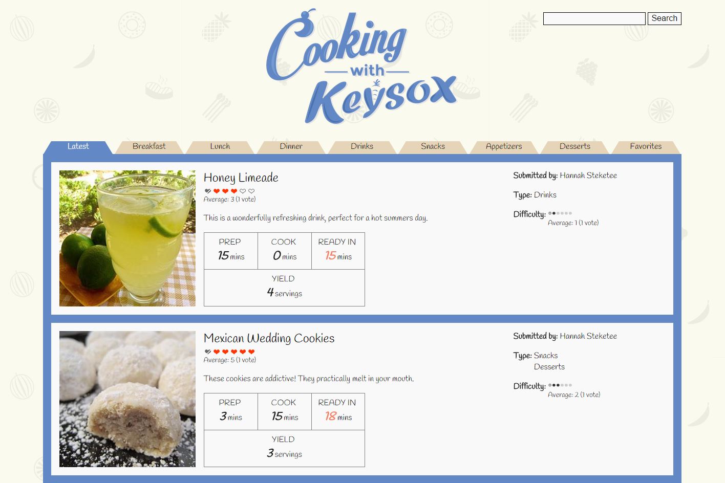Cooking with Keysox